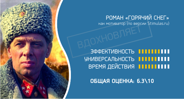 "Роман ""Горячий снег"" как мотиватор"