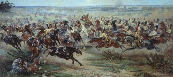 Виктор Мазуровский. Атака лейб-гвардии Конного полка на французских кирасир в сражении под Фридландом 2 июня 1807 года (фр.)